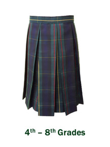 Girls Skirt wtih Box Pleat in Plaid 83 - St. Joseph
