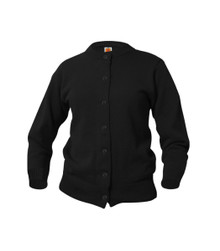 Girls Black Crewneck Cardigan - Hopewell Baptist