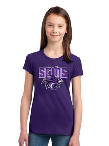 Girls Purple Concert Tee - Sagewood Middle School