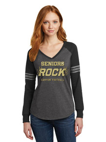 Ladies Long Sleeve Game Tee - Rock Canyon Football Seniors