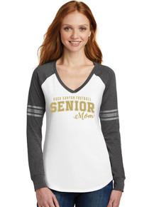 Ladies Long Sleeve Game Tee - Rock Canyon Football Senior Moms