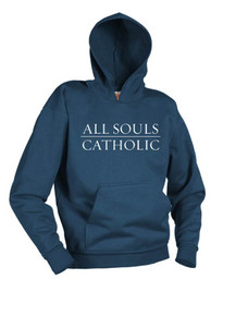 Navy Hooded Pullover Sweatshirt - All Souls