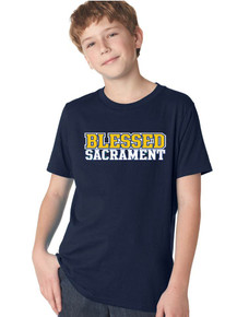 Cotton Crew neck Short Sleeve Tee - Blessed Sacrament