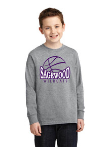 Long Sleeve Cotton Core Tee - Sagewood Basketball