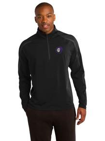 Men's Sport-Tek 1/2 Zip Black/Charcoal Pullover - North Arvada Middle School
