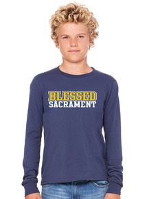 B+C Long Sleeve Jersey T-Shirt - Blessed Sacrament
