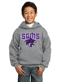 Gray Youth Hoodie Fleece Core - Sagewood Spirit Wear