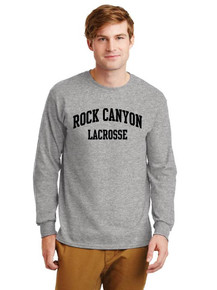 Unisex Gildan Long Sleeve Cotton T-Shirt - Rock Canyon Boys Lacrosse