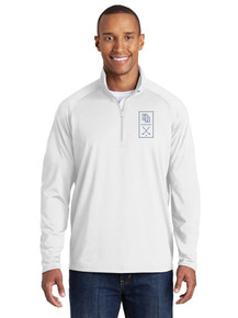 Embroidered Men's 1/4 Zip Smooth Pullover - HRHS Golf