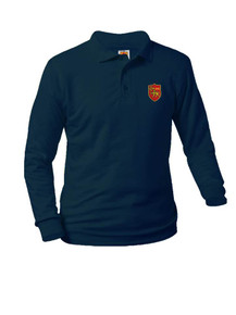 Jersey Knit Long Sleeve Polo Shirt - St. Thomas More