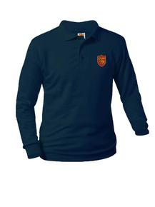 Jersey Knit Long Sleeve Polo Shirt - St. Thomas More