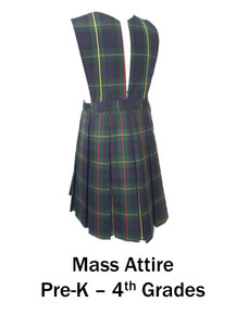 Girls Jumper Split Front in Plaid 83 - St. Thomas More