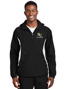 Men's Black Anorak Wind Breaker - RC Lacrosse Embroidery