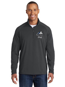 Men's Long Sleeve 1/4 Zip Smooth Pullover -w/Peak to Peak Staff Embroidery