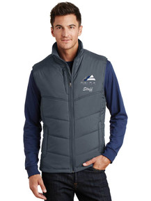 Men's Outerwear Port Authority Puffy Vest - w/Peak to Peak Staff Embroidery