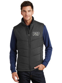 Men's Outerwear Port Authority Puffy Vest - w/ Peak to Peak Embroidery