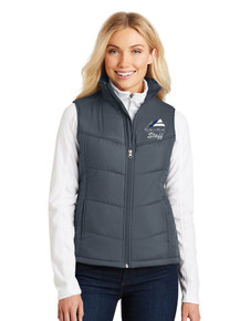 Women's Outerwear Port Authority Puffy Vest - w/Peak to Peak Staff Embroidery