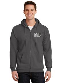 Kid & Adult Long Sleeve Full Zip Hooded Fleece Jacket - w/Peak to Peak Screen Print