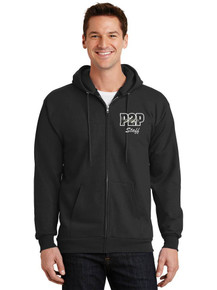 Male Full Zip Hooded Fleece Jacket - w/Peak to Peak Staff Screen Print