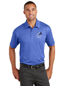 Men's Short Sleeve Trace Heather Polo - w/Peak to Peak Staff Embroidery