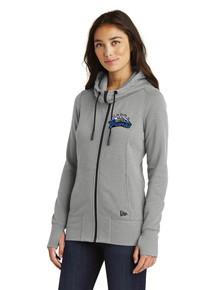 Female Outerwear Tri-Blend Full Zip Hooded Jacket - w/Peak to Peak Embroidery
