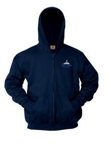 Navy Full Zip Hooded Fleece Sweatshirt - North Start Academy