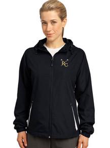 Ladies Black Full Zip Wind Breaker - RC Girls Lacrosse Embroidery