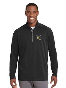 Men's Black Sport-Tek 1/4 Textured Pullover - RC Girls Lacrosse