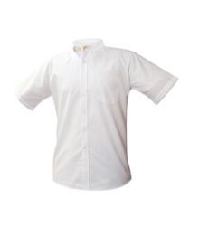 Boys White Short Sleeve Oxford Shirt - St. Thomas More Preschool