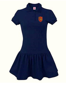 Girls Navy Short Sleeve Polo Dress - STM Preschool