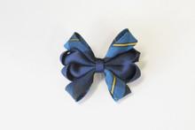 Hair bow Carnival 8 loop - Plaid 9A