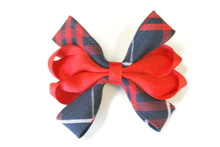 Hair bow Carnival 8 loop - Plaid 36