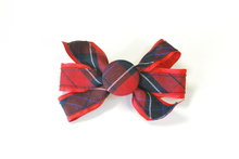 Monarch Bow Barrette Plaid 94