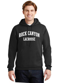 Hooded Sweatshirt w/arched screen print on front - RC Girls Lacrosse
