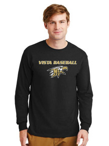 Unisex Gildan Long Sleeve Cotton T-Shirt - Vista Baseball