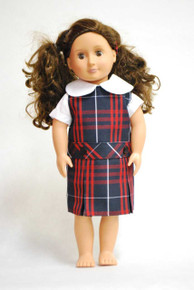 Doll Dress - Plaid 36