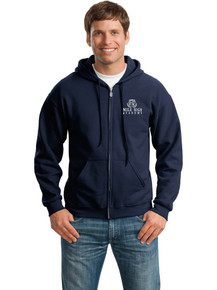 Embroidered Full Zip Hooded Sweatshirt - MHA