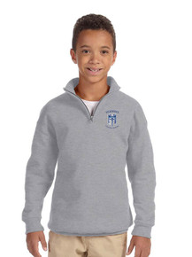 Fleece 1/4-Zip Cadet Collar Pullover Sweatshirt - STJOHNS