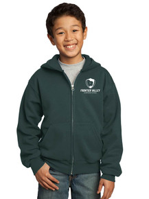 Youth Full Zip Hooded Fleece Jacket - Frontier Valley