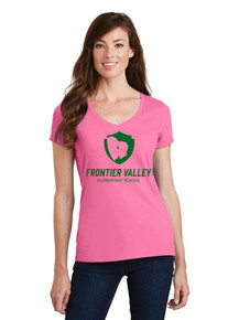 Ladies Fan Favorite V-Neck Tee - Frontier Valley