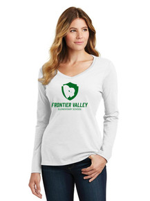 Ladies Long Sleeve V-Neck Tee - Frontier Valley