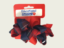 Ribbon Burst Barrette in Plaid 94