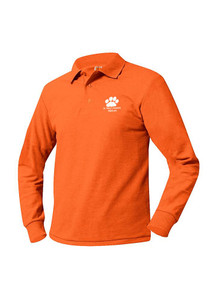 Pique Knit Long Sleeve Polo Shirt - St. Mary's Academy