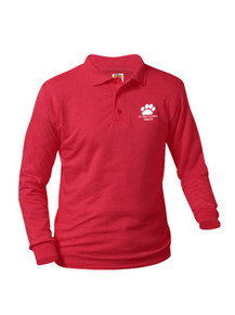 Jersey Knit Long Sleeve Polo Shirt - St. Mary's Academy