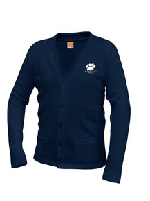 Unisex V-Neck Cardigan Sweater -St. Mary's Academy
