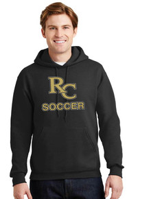 Jerzees Pullover Hoodie w/RC Soccer Screen Print