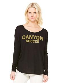 Ladies Bella+Canvas Flowy Dolman Long Sleeve - RC Soccer