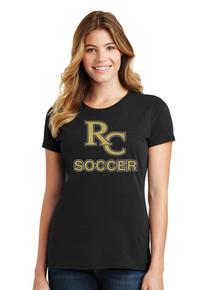 Ladies Tee w/RC Soccer Heat Press