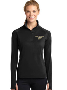 Ladies Long Sleeve Smooth 1/4 Zip - Vista Football