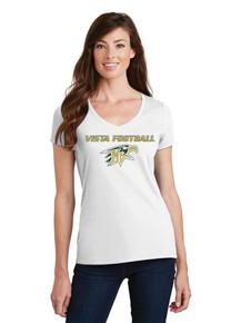 Ladies Fan Favorite V-Neck Tee - Vista Football